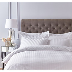 Satin 200 Thread Count Fitted Sheet White