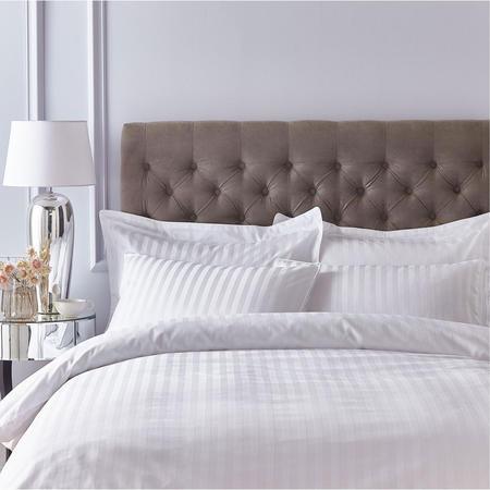Satin 200 Thread Count Coordinated Bedding White