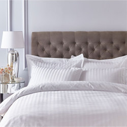Satin 200 Thread Count Duvet Cover White
