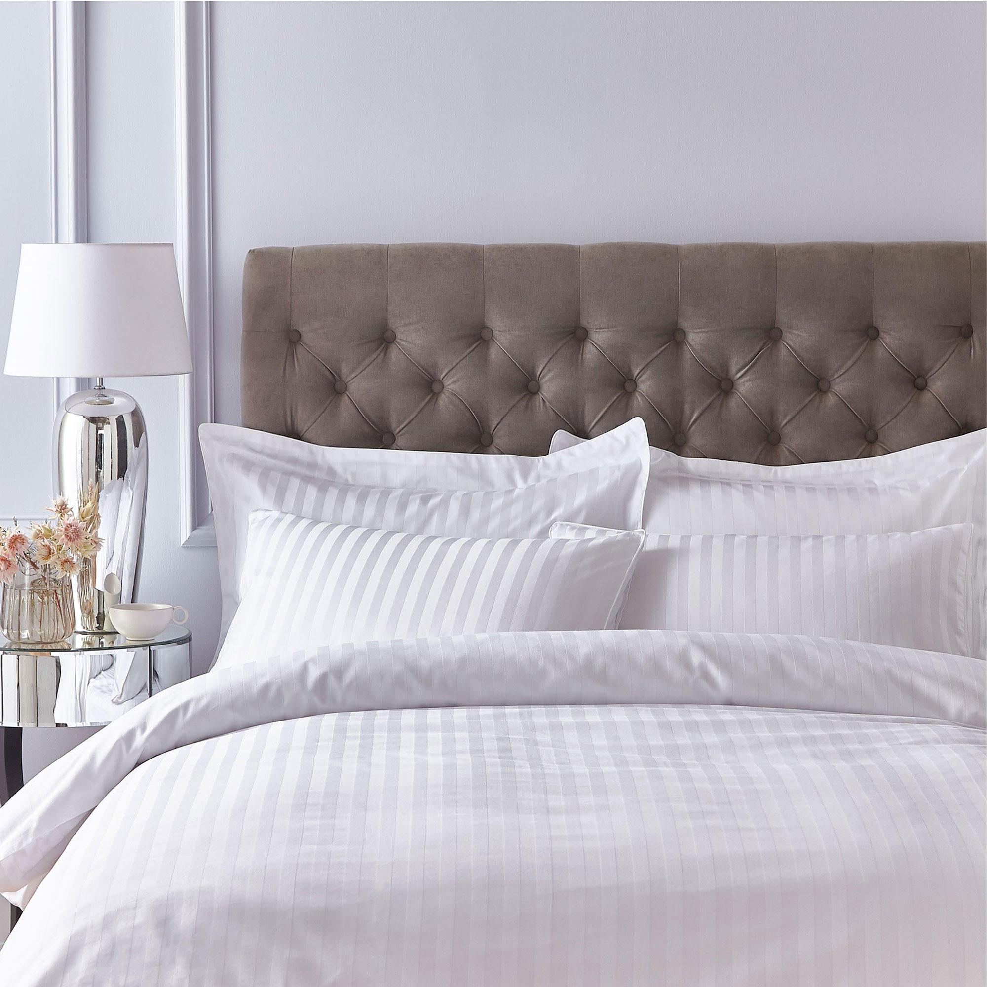 138496361: Satin 200 Thread Count Housewife Pillowcase Pair White