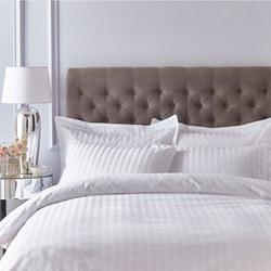 Satin 200 Thread Count Housewife Pillowcase Pair White