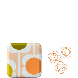 Flower Paper Clips in a Tin