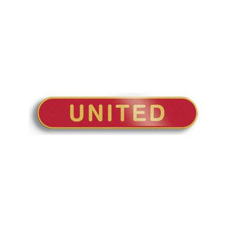 United Red Bar Badge