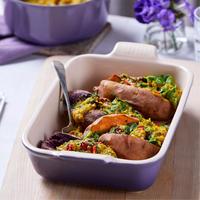 Stoneware Large Heritage Rectangular Dish Ultra Violet