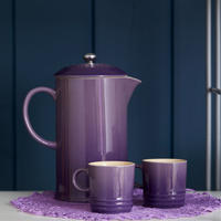 Stoneware Cafetière With Metal Press Ultra Violet