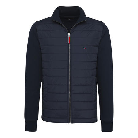 Mixed Media Zip Jacket