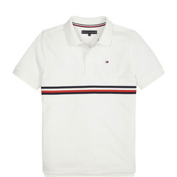 Bright White Flag Polo
