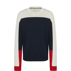 Jaden Colour Block Crew Neck Sweater
