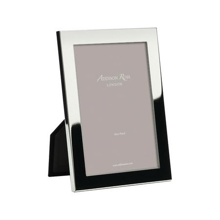 Flat Fronted Silver Plated Photo Frame 4x6 Inches