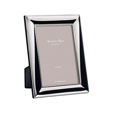 Beaded Silver Plated Photo Frame 5x7 Inches