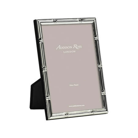 Bamboo Silver Plated Photo Frame 4x6 Inches