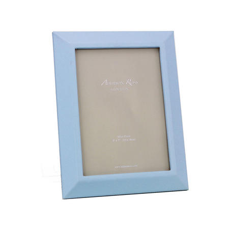 Blue Faux Leather Photo Frame 5x7 Inches