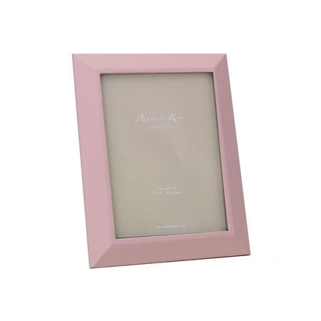 Pink Faux Leather Photo Frame 5x7 Inches