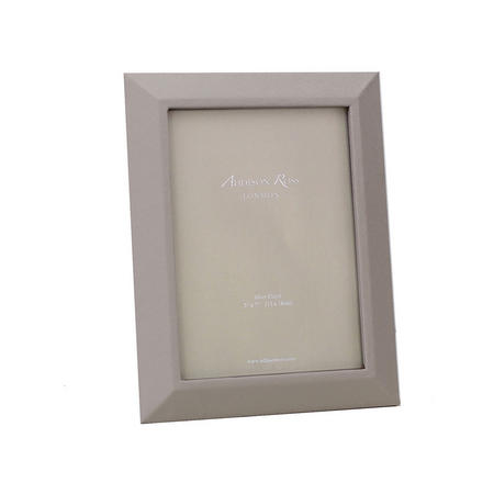 Grey Leather Photo Frame 5x7 Inches