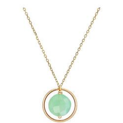 Perle De Lune Chalcedony Pastille Ellipse Necklace