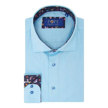 Solid Trim Cuff Shirt