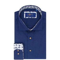 Texture Floral Trim Shirt