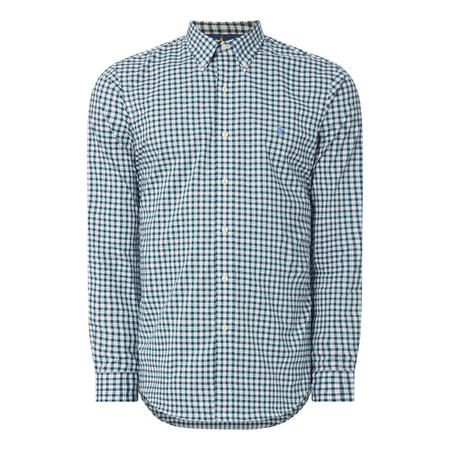 Check Print Poplin Shirt