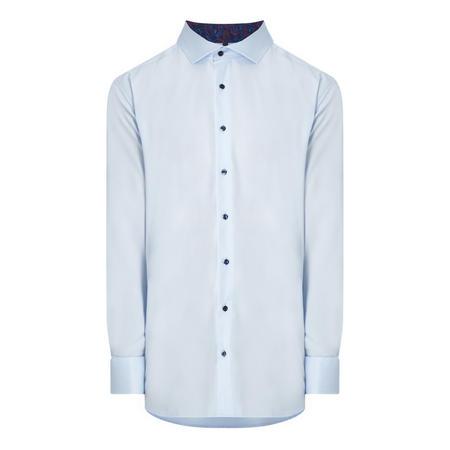 Single Cuff Solid Trim Shirt