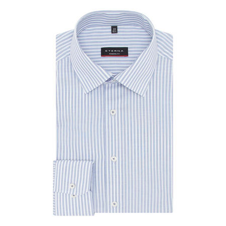 Single Button Cuff Striped Shirt