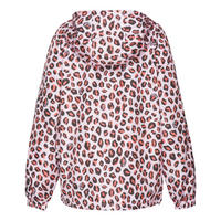 Leopard Print Windbreaker Jacket
