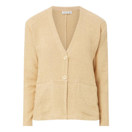 Woven Cropped Cardigan