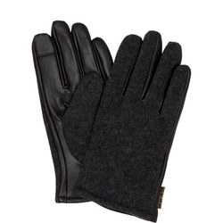 Rugged Melton Leather Gloves
