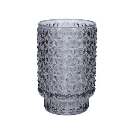 Grey Glass Tealight Holder
