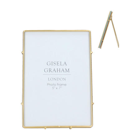 Gold Edge Glass Medium Picture Frame
