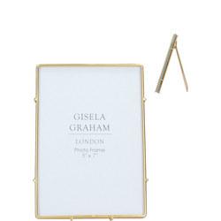Gold Edge Glass Medium Picture Frame