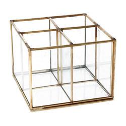 GISELA GRAHAM Brass and Glass Four Part Organiser