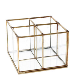 Brass and Glass Four Part Organiser