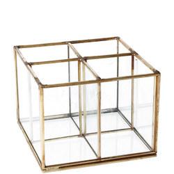 Brass and Glass Four Part Organiser