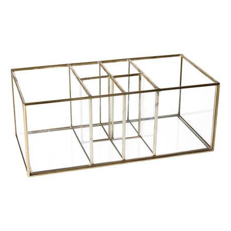 Brass and Glass Six Part Organiser