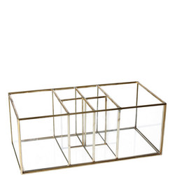 Brass and Glass Six Part Organiser
