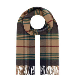 Twill Check Wool Scarf