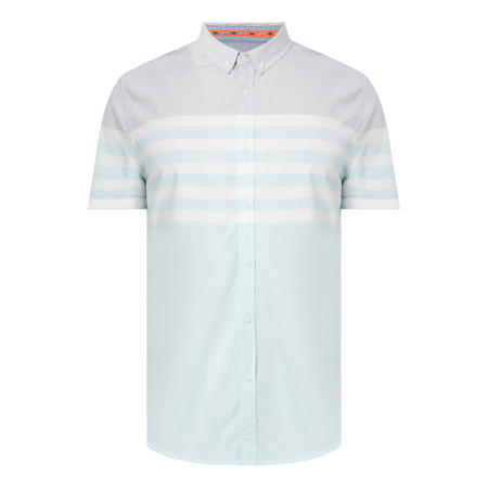 Chambray Poplin Short Sleeve Shirt