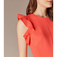 Frilly Fitted Pencil Dress