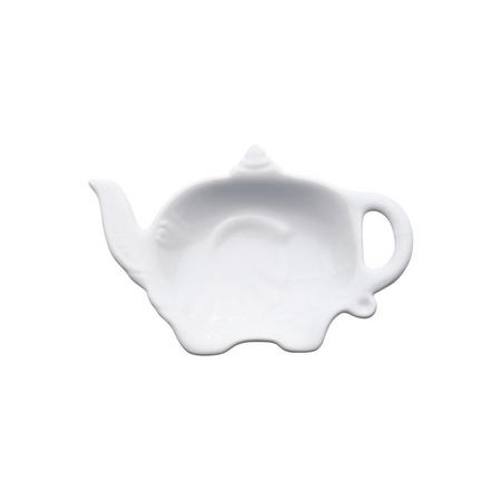 Elephant Teabag Tidy White