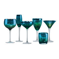Peacock Martinis Set of Two