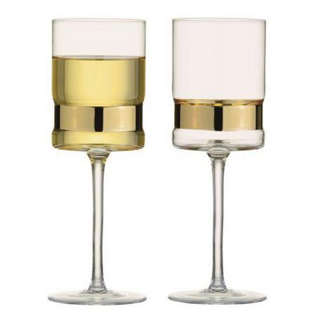 SoHo Wine Glasses Gold Set
