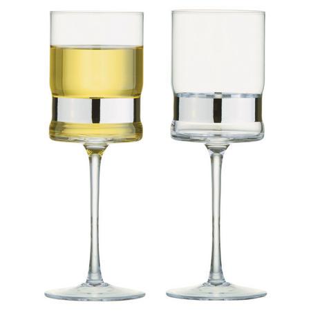 SoHo Wine Glasses Silver Set