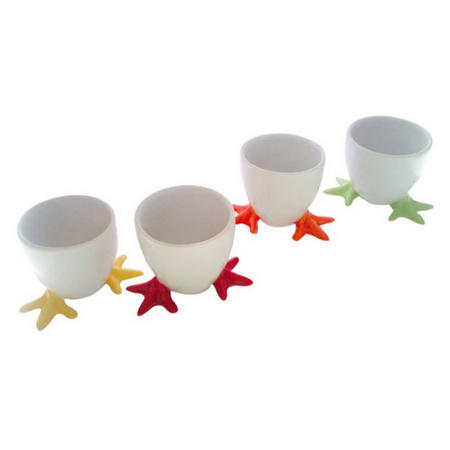 Chicken Feet Egg Cups Assorted Colours