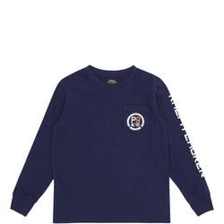 Boys Long Sleeve Pocket T-Shirt