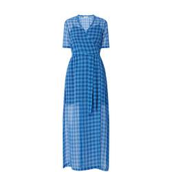 Mante Check Wrap Dress