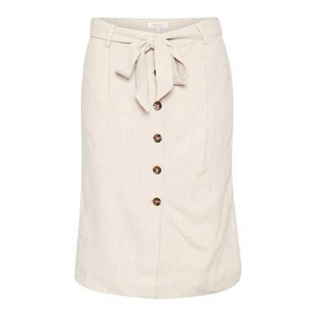 Reba Button Front Midi Skirt