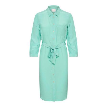 Raffia Shirt Dress