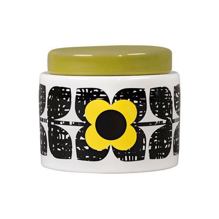 Scribble Square Flower Sunshine Small Storage Jar