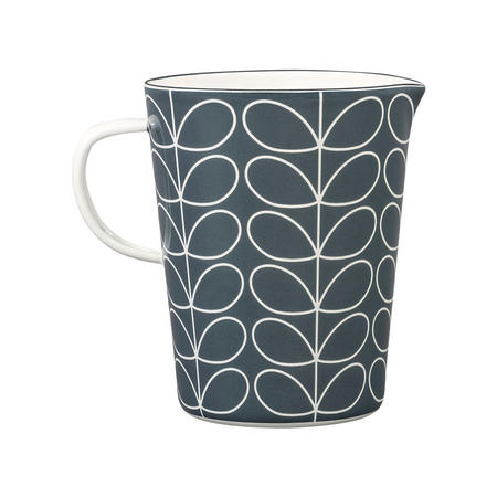 Linear Stem Slate Enamel Large Measuring Jug