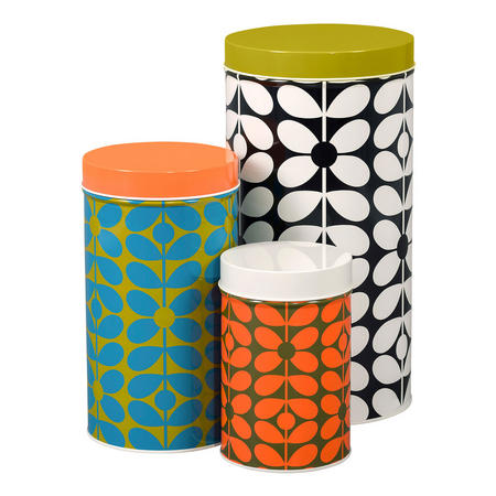 60's Stem Nesting Canisters Set of Three